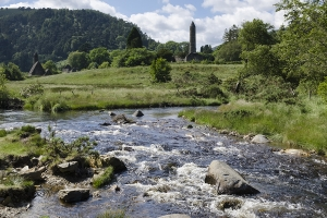 Round Tower in Glendalough, Co Wicklow, Ireland